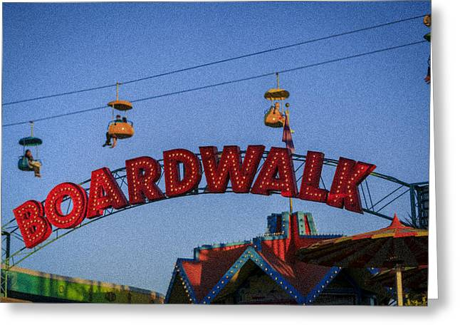 Santa Cruz Boardwalk 1 Greeting Card by Scott Campbell
