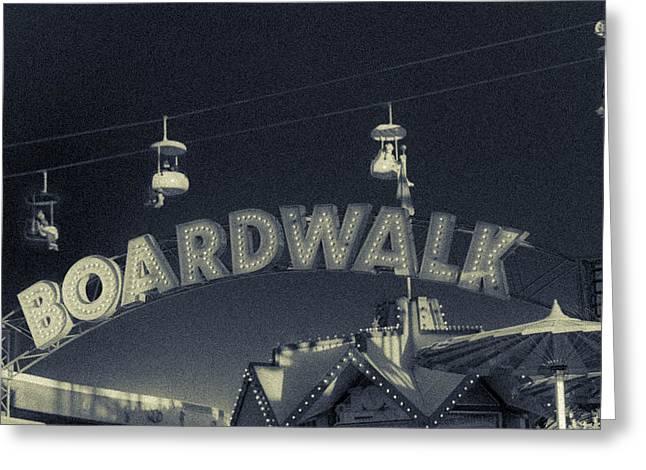 D.w. Digital Art Greeting Cards - Santa Cruz Boardwalk 2 Greeting Card by Scott Campbell