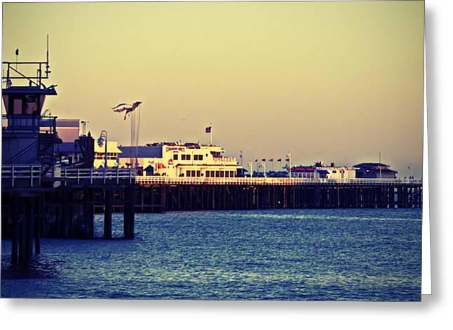Santa Cruz Boardwalk Greeting Card by Christina Ochsner