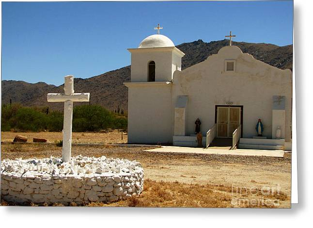 Santa Cruz Art Greeting Cards - Santa Cruz Chapel Greeting Card by Marilyn Smith