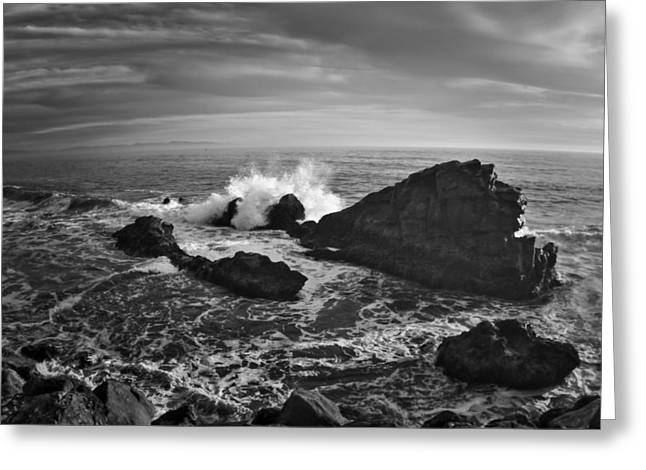 Steamer Lane Greeting Cards - Santa Cruz Coastline Greeting Card by Richard Cheski
