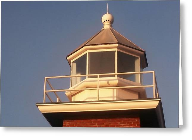 Santa Cruz Surfing Museum Greeting Cards - Santa Cruz Light House Greeting Card by Art Block Collections