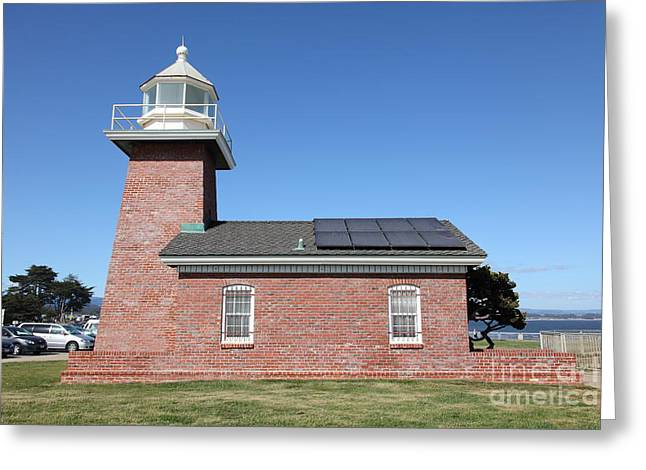 Santa Cruz Ca Photographs Greeting Cards - Santa Cruz Lighthouse Surfing Museum California 5D23942 Greeting Card by Wingsdomain Art and Photography