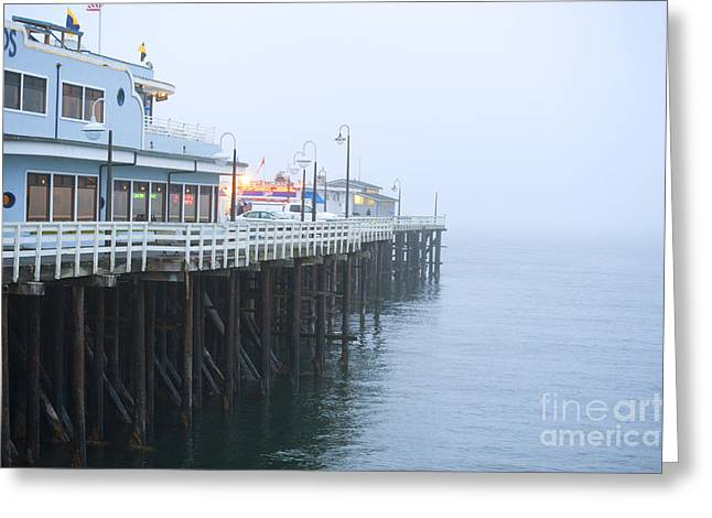 Santa Cruz Pier Greeting Cards - Santa Cruz Pier in the Fog Greeting Card by Artist and Photographer Laura Wrede