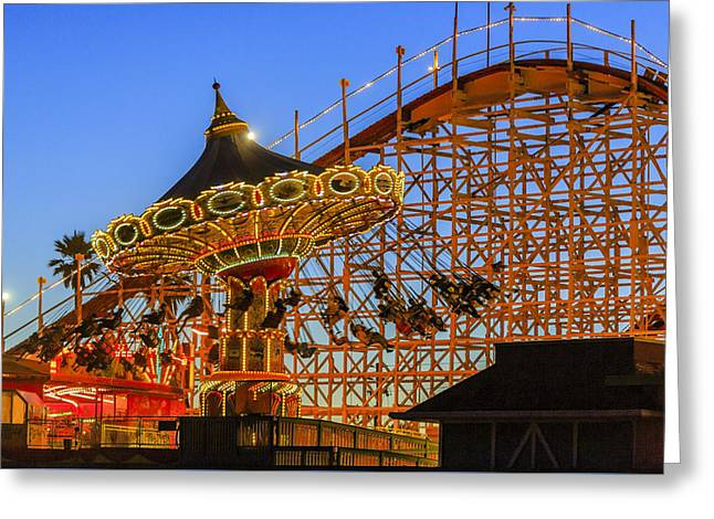 Santa Cruz Seaswing And The Giant Dipper 4 Greeting Card by Scott Campbell