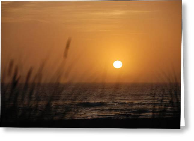 Ocean Sunset Greeting Cards - Santa Cruz Sunset Greeting Card by Shane Kelly