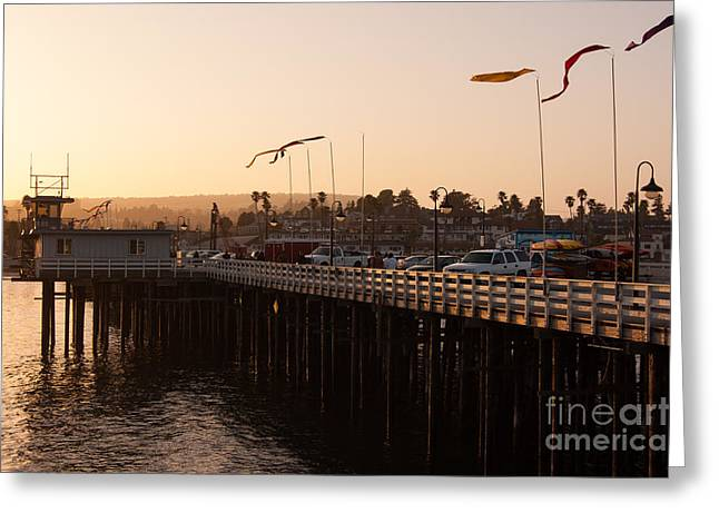 Santa Cruz Pier Greeting Cards - Santa Cruz Wharf Greeting Card by Dashiell Corbett