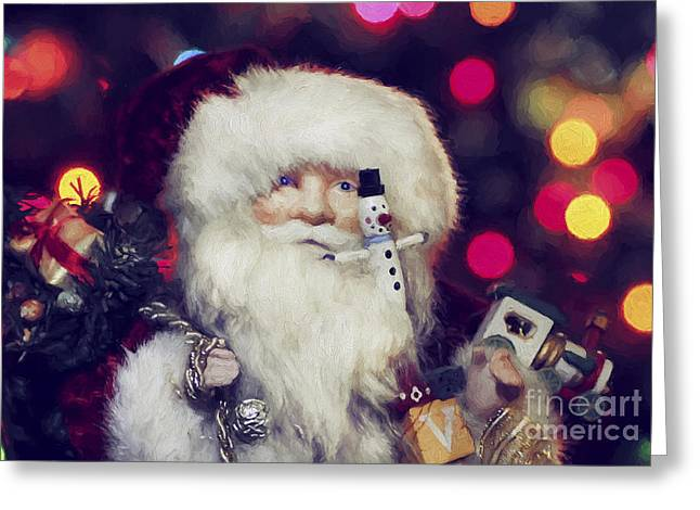 Occasion Greeting Cards - Santa Greeting Card by Darren Fisher