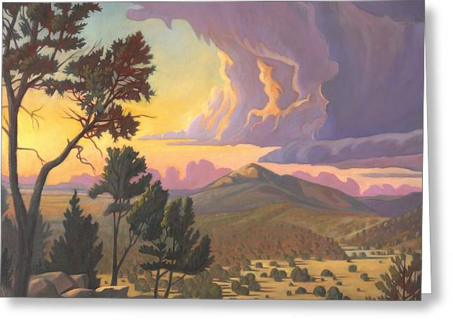 Santa Fe Baldy - Detail Greeting Card by Art James West