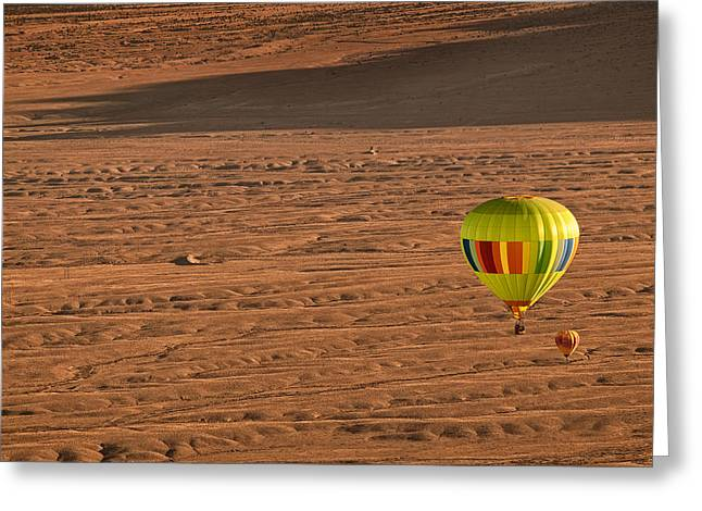 Balloon Greeting Cards - Santa Fe Bound Greeting Card by Keith Berr