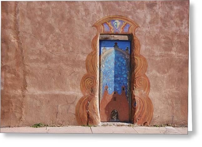 Hallmark Greeting Cards - Santa Fe Door Greeting Card by Darla Hallmark