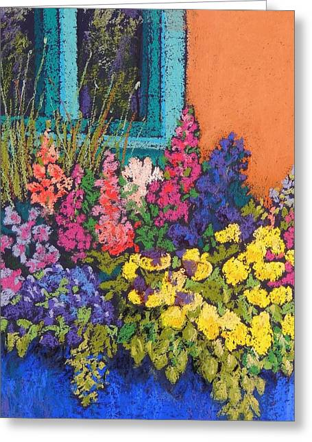 Southwest Pastels Greeting Cards - Santa Fe Flowers Greeting Card by Candy Mayer
