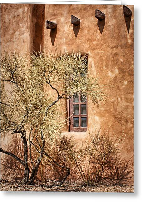 Adobe Greeting Cards - Santa Fe Greeting Card by Nikolyn McDonald