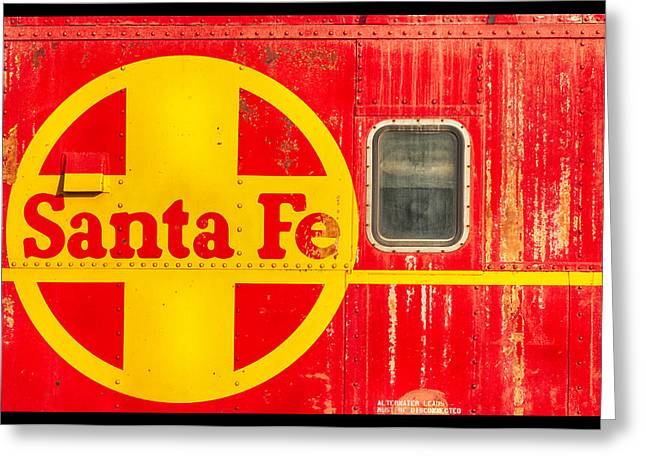 Caboose Greeting Cards - Santa Fe Railroad Red Greeting Card by Carter Jones