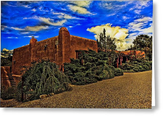 Adobe Greeting Cards - Santa Fe Style - New Mexico Greeting Card by Madeline Ellis