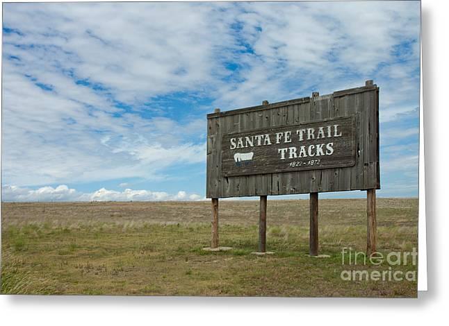 Conestoga Greeting Cards - Santa Fe Trail Greeting Card by Richard and Ellen Thane