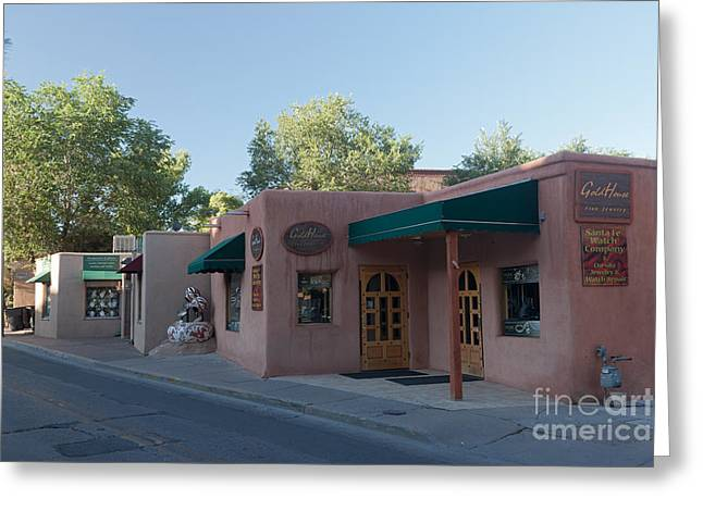 Sante Fe Trail Greeting Cards - Santa Fe Trail Shops Greeting Card by Fred Stearns