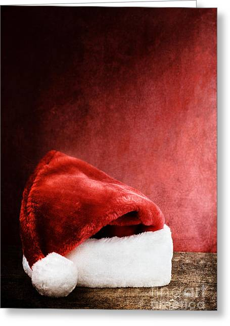 Isolated Object Greeting Cards - Santa Hat Greeting Card by Stephanie Frey