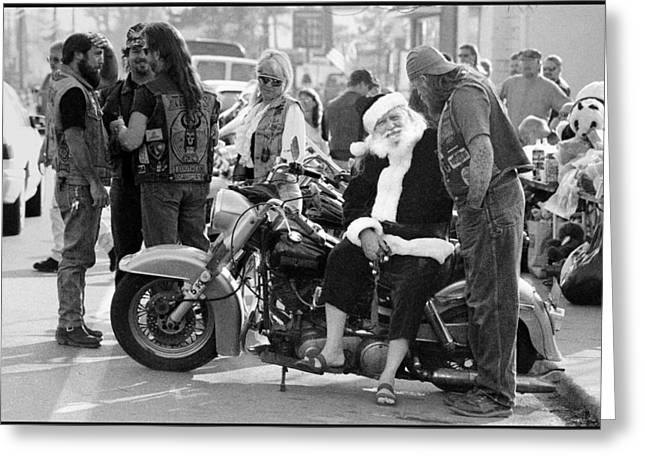 Santa Helpers Greeting Card by Doug Barber