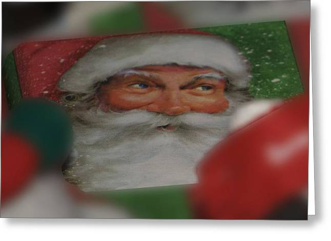 Old Saint Nick Greeting Cards - Santa is Watching Greeting Card by Thomas Woolworth