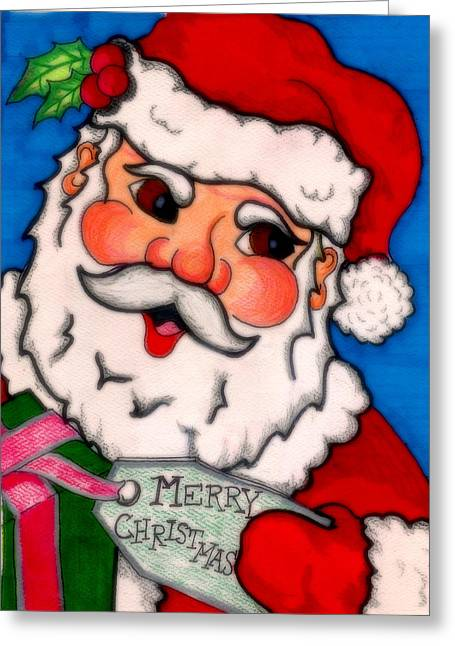 Jame Hayes Digital Art Greeting Cards - Santa  Greeting Card by Jame Hayes