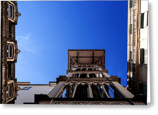 Spiral Staircase Greeting Cards - Santa Justa Elevator III Greeting Card by Marco Oliveira