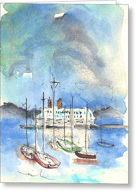Santa Margherita In Italy 02 Greeting Card by Miki De Goodaboom