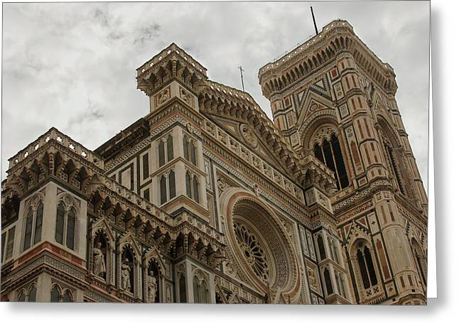 The Church Greeting Cards - Santa Maria del Fiore - Florence - Italy Greeting Card by Georgia Mizuleva