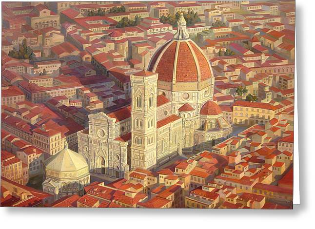 Architectural Landscape Greeting Cards - Santa Maria del Fiore Greeting Card by Meruzhan Khachatryan