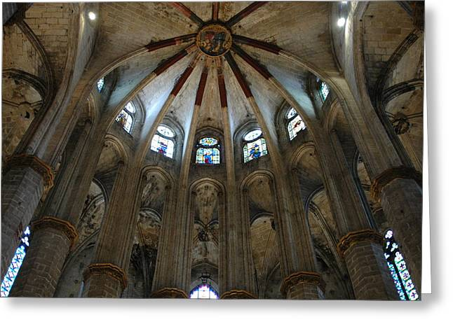 Kathy Schumann Greeting Cards - Santa Maria Del Mar Basilica I Greeting Card by Kathy Schumann
