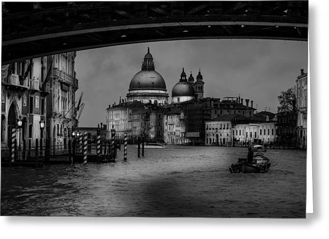 Queen Of The Sea Greeting Cards - Santa Maria Della Salute At The Grand Canal Venice Greeting Card by Colin Utz