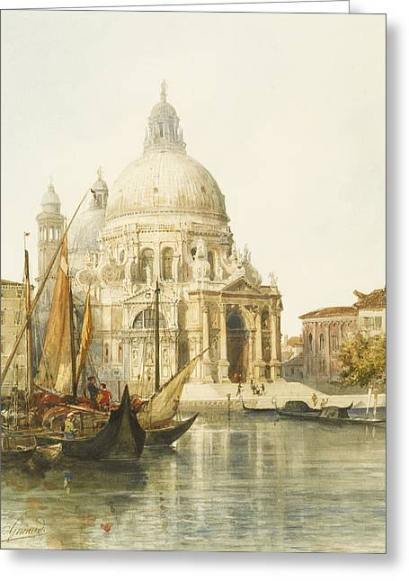 Dome Greeting Cards - Santa Maria della Salute Greeting Card by Jacques Guiaud