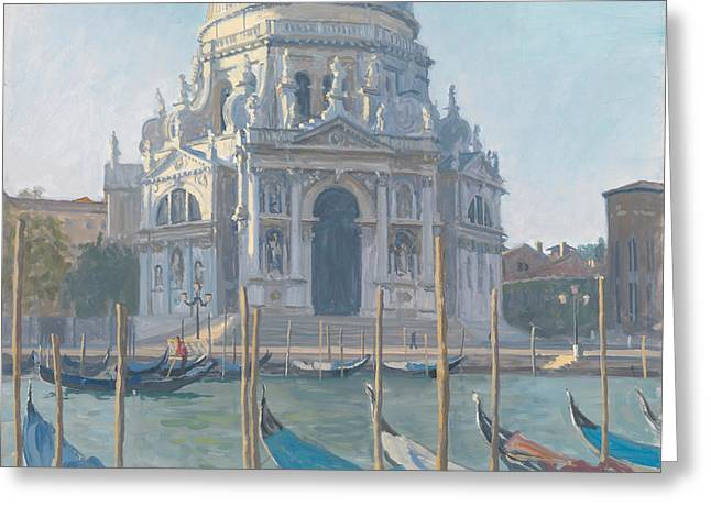 From The Dome Greeting Cards - Santa Maria della Salute Greeting Card by Julian Barrow
