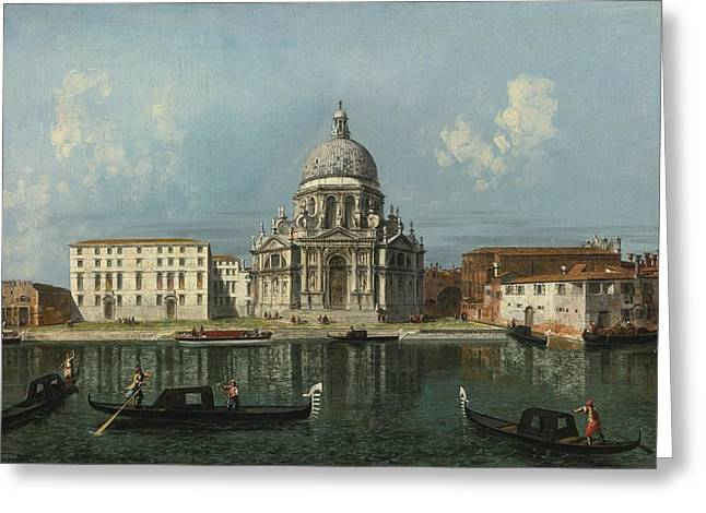 Michele Greeting Cards - Santa Maria Della Salute Greeting Card by Michele Marieschi