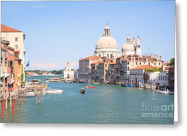 Cupola Greeting Cards - Santa Maria della Salute on the Grand Canal in Venice Greeting Card by Matteo Colombo