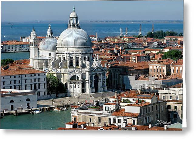 Basillica Greeting Cards - Santa Maria della Salute Venice  Greeting Card by Jennie Breeze