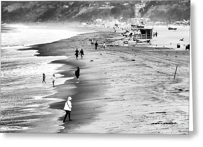 Ocean Art Photos Greeting Cards - Santa Monica Beach VII Greeting Card by John Rizzuto