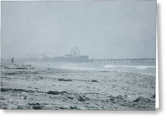 California Beach Greeting Cards - Santa Monica Greeting Card by Beth Williams