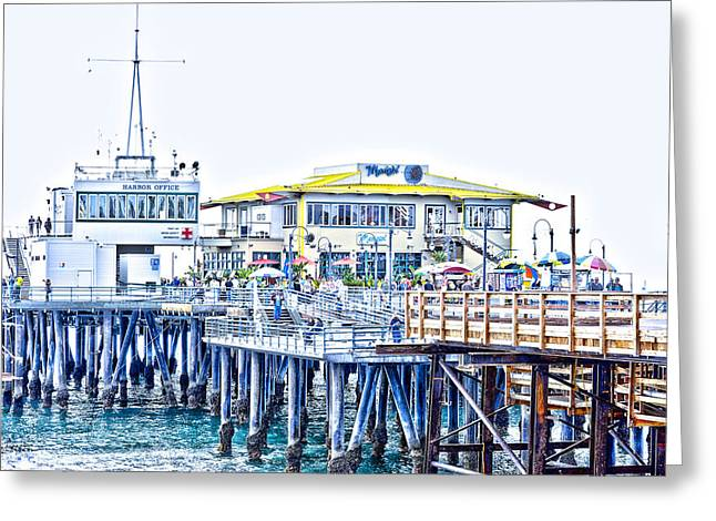 Pch Greeting Cards - Santa Monica Pier Greeting Card by Jody Lane