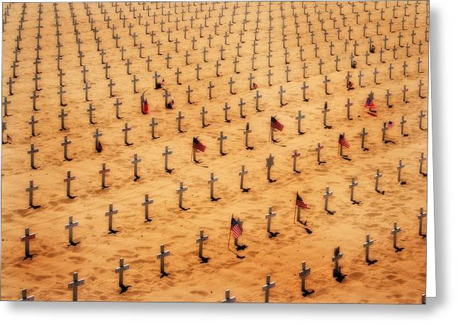 Soldiers National Cemetery Digital Art Greeting Cards - Finally Peace Greeting Card by Michael Braham