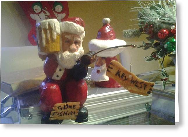 Sat Sculptures Greeting Cards - Santa Greeting Card by Nicholas Colagioia