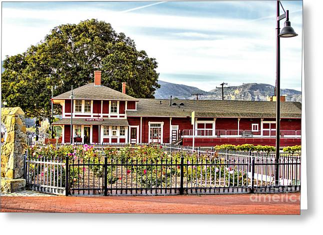 Museum And Gift Shop Greeting Cards - Santa Paula Train Station Greeting Card by Jason Abando