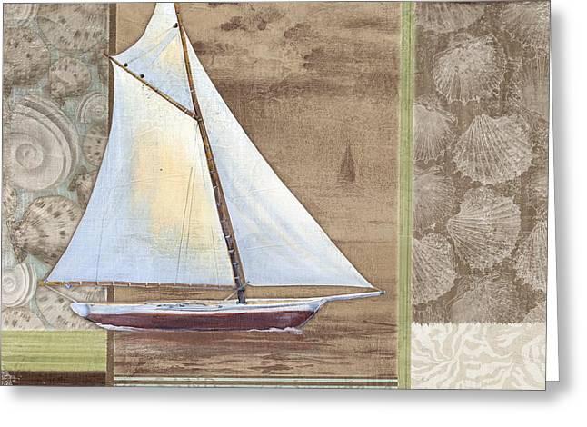 Blue Sailboat Greeting Cards - Santa Rosa Boat II Greeting Card by Paul Brent