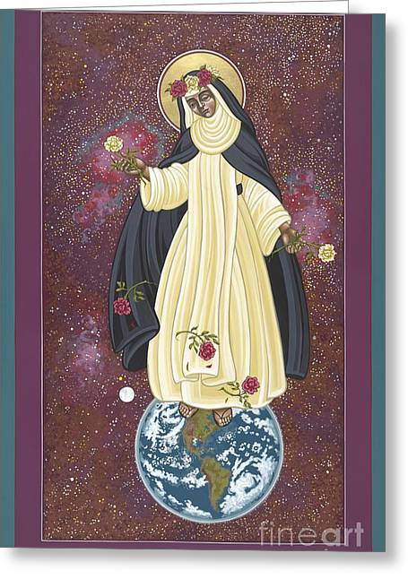 Harts Paintings Greeting Cards - Santa Rosa Patroness of the Americas Greeting Card by William Hart McNichols