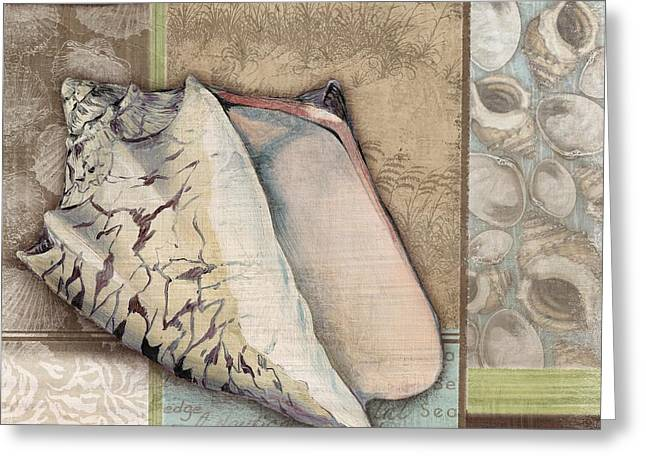 Calm Paintings Greeting Cards - Santa Rosa Shells I Greeting Card by Paul Brent