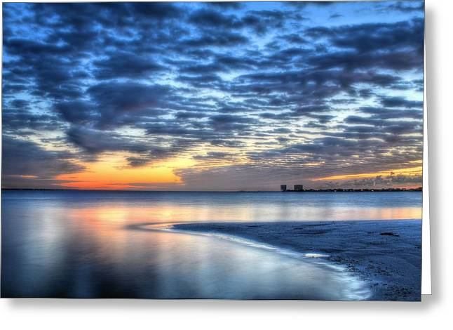 Florida Panhandle Greeting Cards - Santa Rosa Sound Greeting Card by JC Findley