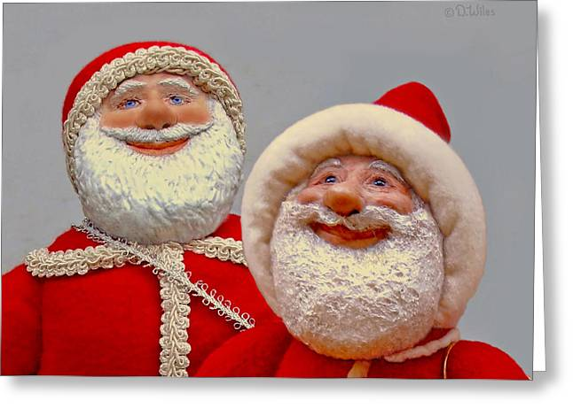 Santa Sr. And Jr. - Quality Time Greeting Card by David Wiles