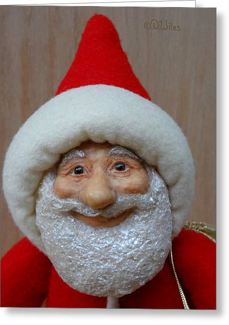 Loving Sculptures Greeting Cards - Santa Sr. - Closeup Greeting Card by David Wiles