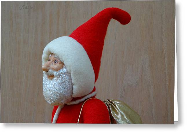 Loving Sculptures Greeting Cards - Santa Sr. - In The Spirit Greeting Card by David Wiles