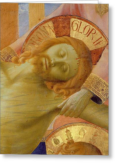 Lamentation Greeting Cards - Santa Trinita Altarpiece Greeting Card by Fra Angelico